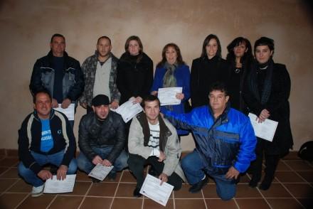 Foto de los alumnos del taller de empleo 'Sástago III'